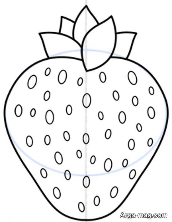 نقاشی متفاوت از میوه توت فرنگی