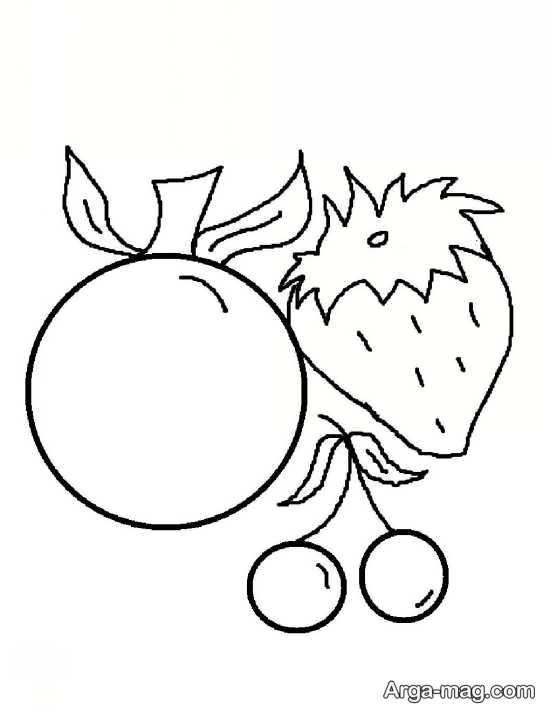 نقاشی جالب از میوه توت فرنگی