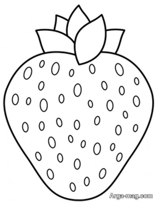 تصویر زیبا از نقاشی میوه توت فرنگی