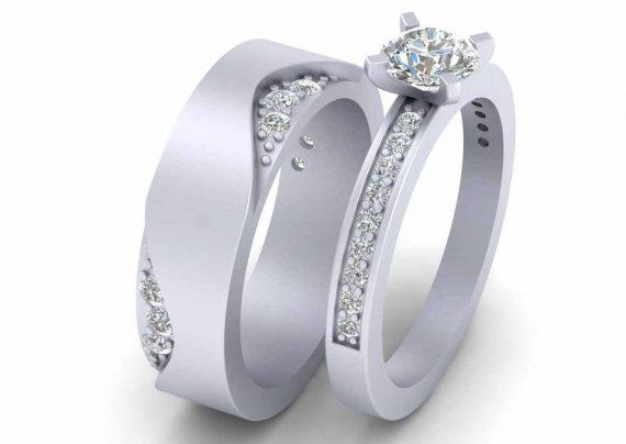 حلقه ست عروس و داماد
