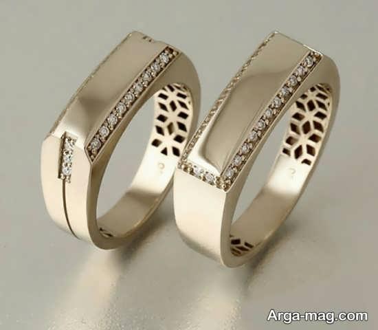 حلقه های ست شده عروس و داماد