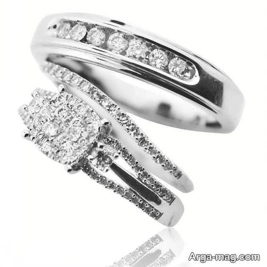 حلقه ست فوق العاده زیبا عروس و داماد
