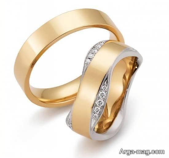 طرح های جذاب از حلقه عروس و داماد