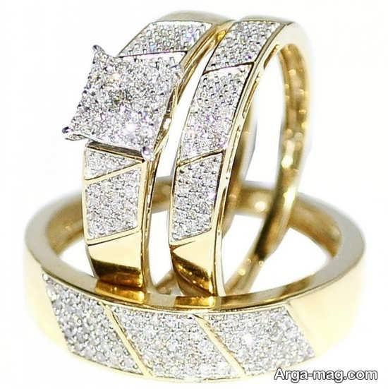 طرح های جالب از حلقه عروس و داماد