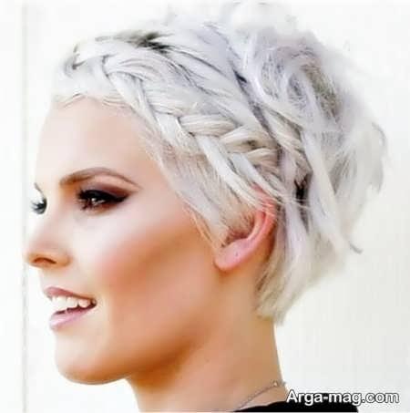 آرایش مو همراه با بافت