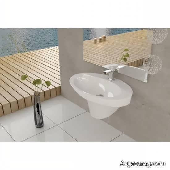 ایده روشویی دیواری سرویس بهداشتی زیبا