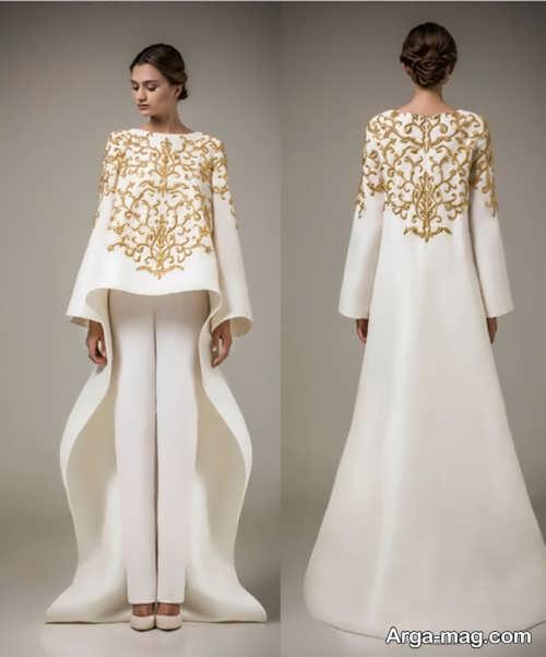 لباس طرح دار برای عقد