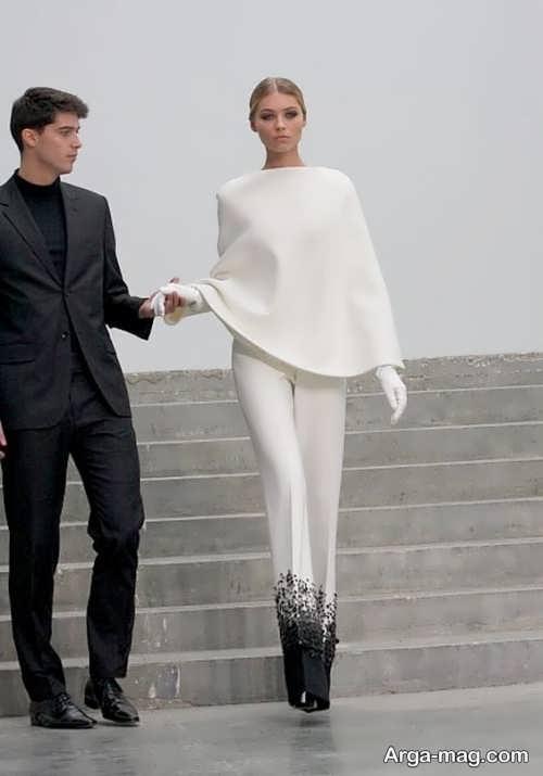مدل بلوز و شلوار سفید مجلسی