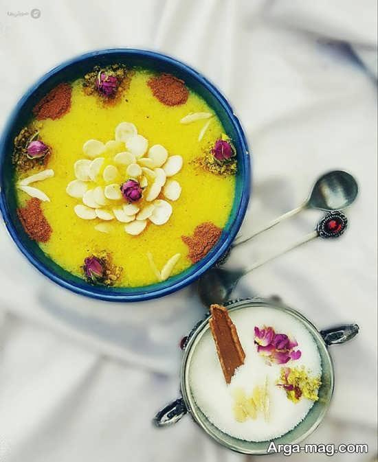 تزیین شله زرد با غنچه گل محمدی