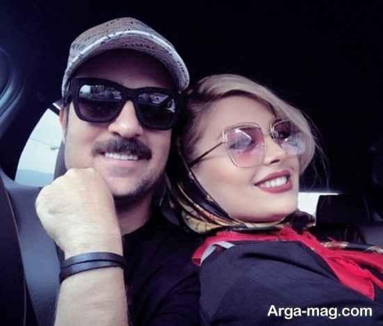 سلفی عاشقانه احمد مهران فر و همسرش