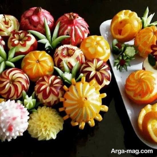 میوه آرایی با پرتقال