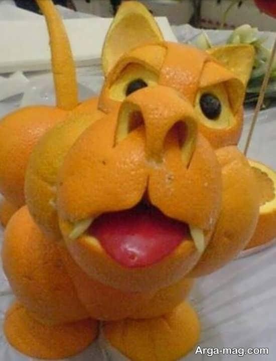 میوه آرایی پرتقال با ایده های منحصر به فرد