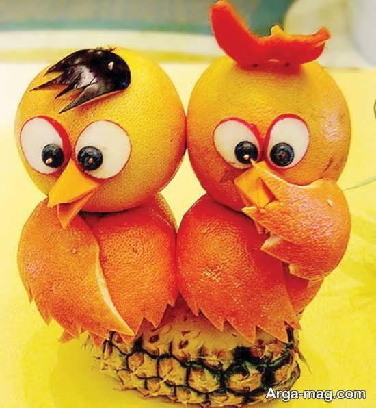 میوه آرایی پرتقال با ایده های جذاب