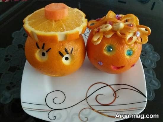 میوه آرایی پرتقال با ایده های شیک