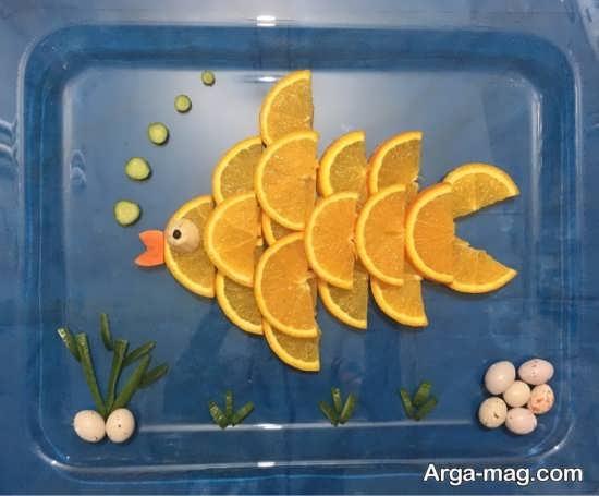میوه آرایی هنرمندانه پرتقال