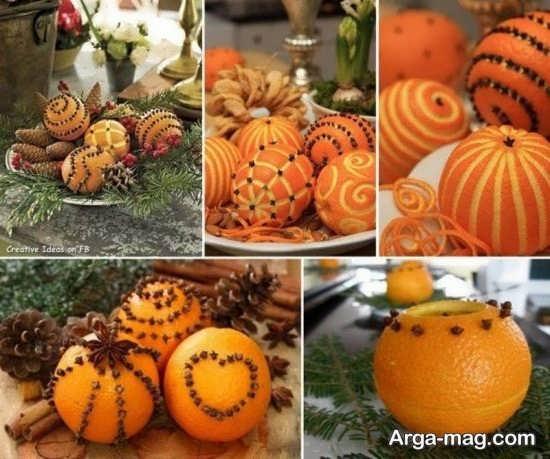 میوه آرایی خاص پرتقال