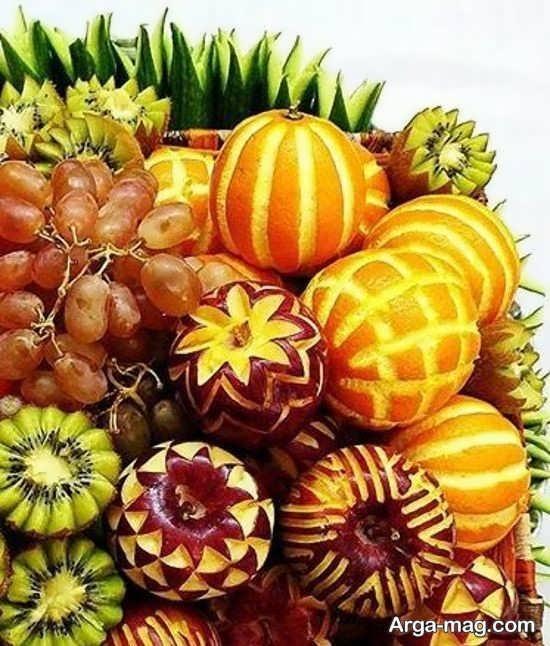 میوه آرایی فوق العاده زیبا با پرتقال