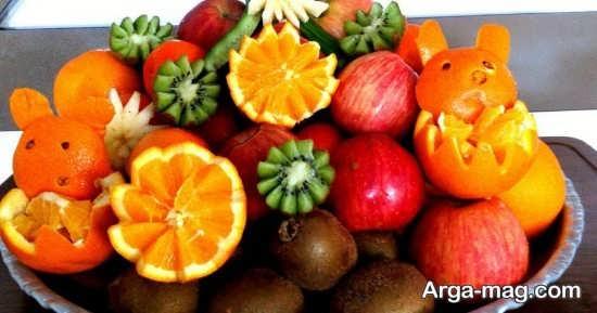 میوه آرایی خاص با پرتقال