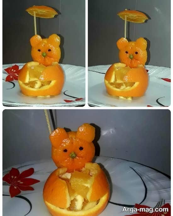 میوه آرایی پرتقال با باحال ترین ایده ها