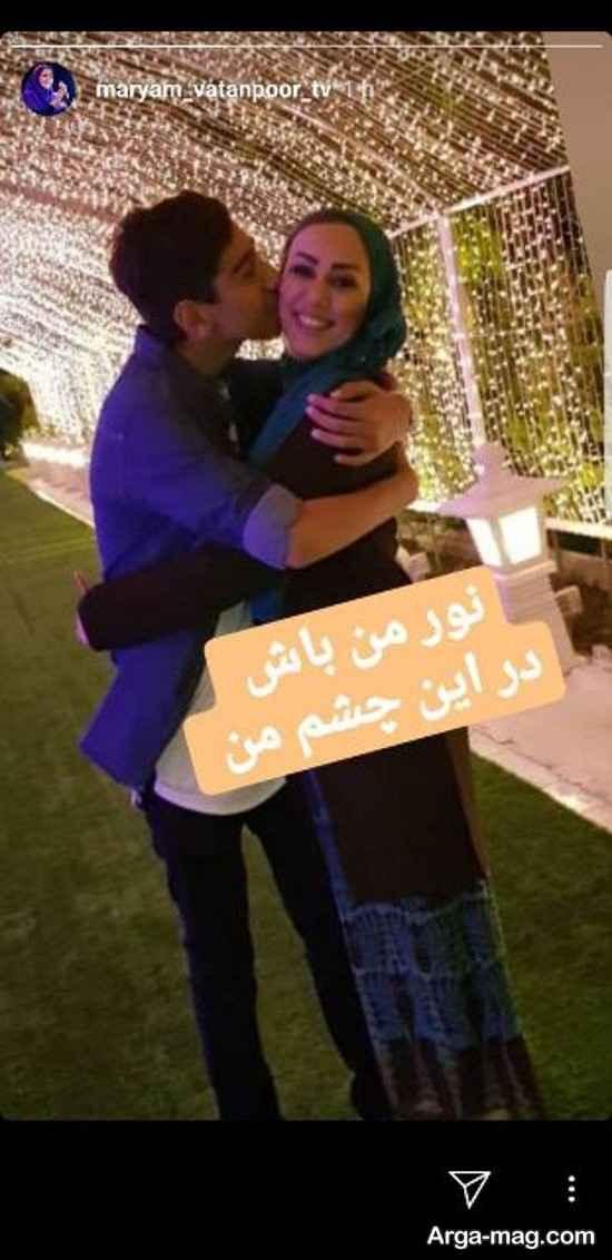 عکس مادرانه خاله قاصدک همراه پسرش