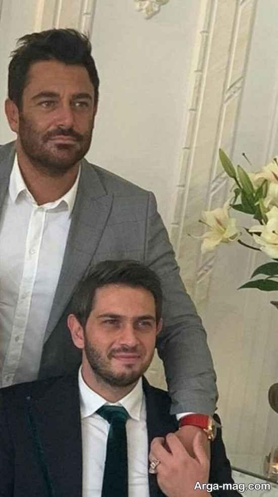 عکس محمدرضا گلزار در مراسم عقد برادرش