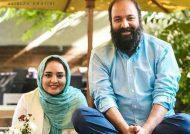 علی اوجی و نرگس محمدی در کنار بانی ازدواجشان
