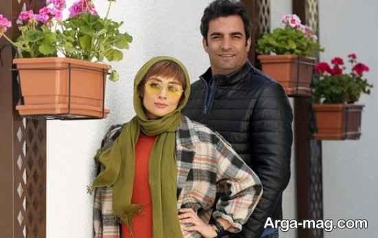 ژست یکتا ناصر در کنار همسر کارگردانش