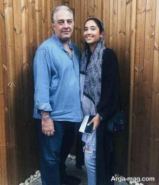ایرج نوذری و دخترش دلربا