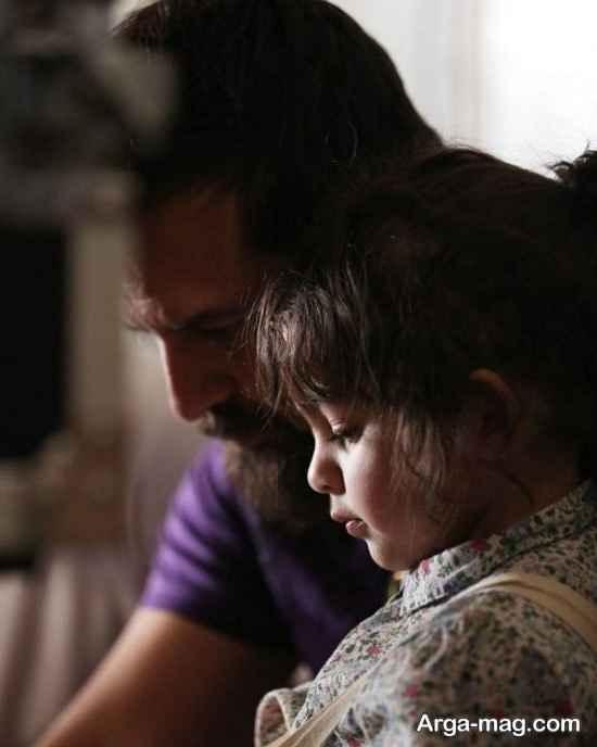 عکس جدید هومن سیدی و دخترش