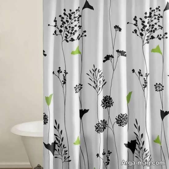 انواع الگوهای پرده حمام با تنوع در رنگ و طرح و اندازه