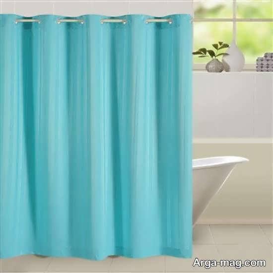 گالری الگوهای پرده حمام با رنگ زیبا و شیک آبی