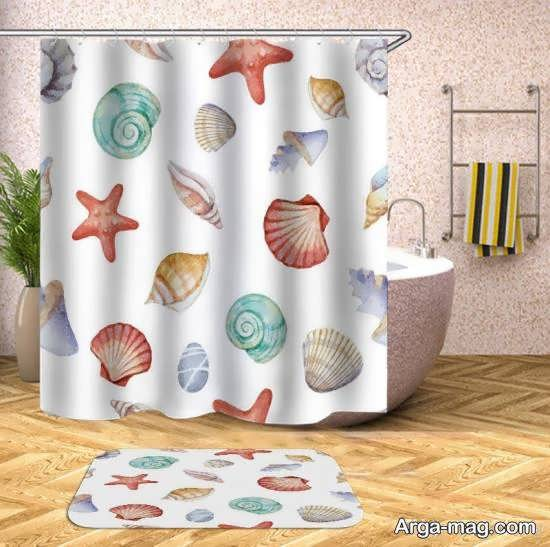 الگوهای زیبایی از پرده برای جداسازی حمام از دستشویی
