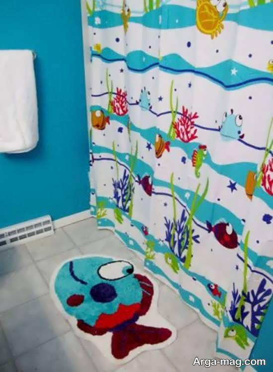 گالری جذاب و شیک الگوهای پرده حمام برای کودکان
