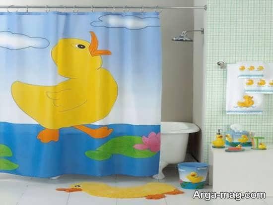 مجموعه شیک و طرحدار مدل های پرده حمام بچه گانه