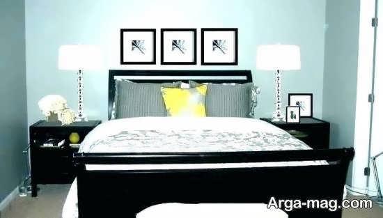 ایده های دیزاین اتاق خواب با نورپردازی و کاغذ دیواری شیک و زیبا