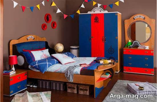 انواع دیزاین اتاق خواب لوکس و زیبا با طرح و رنگ های زیبا و جالب