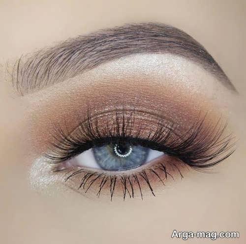 مدل آرایش چشم آبی