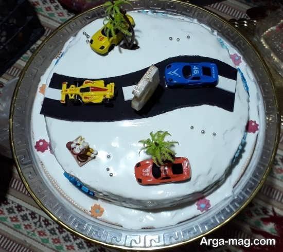 تزئین کیک تولد پسرانه