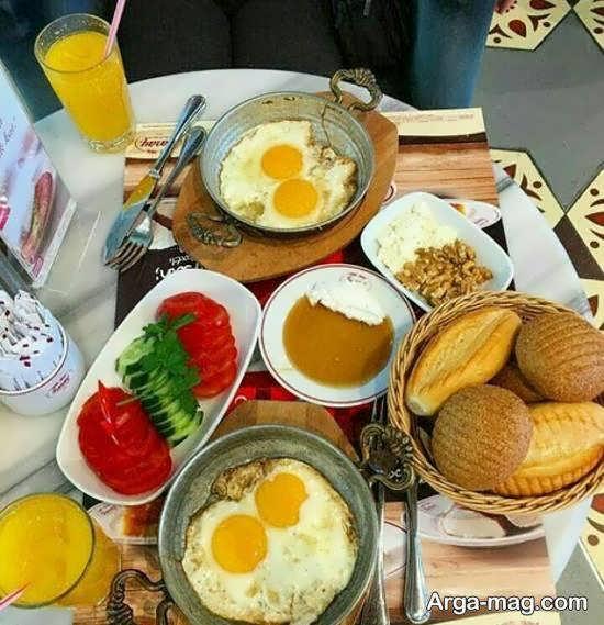 انواع تزیینات سفره صبحانه با ایده های خلاقانه