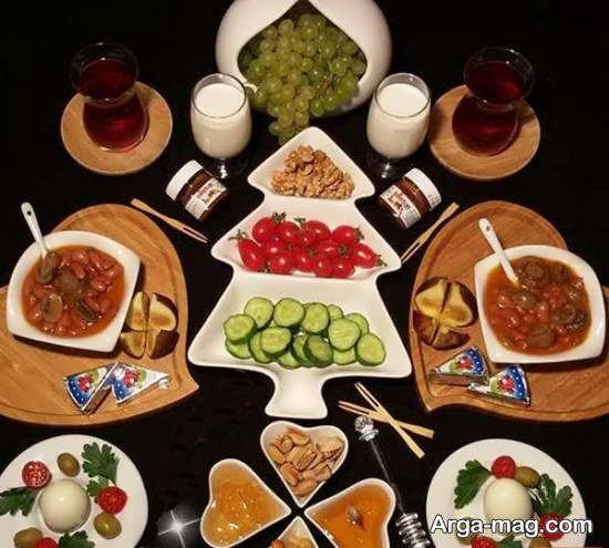 ایده های تزیینات سفره در وعده ی صبحانه به شکلی زیبا و خاص