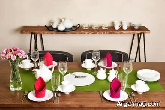 انواع سفره آرایی زیبا و مجلسی برای مهمانان