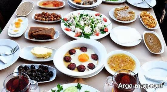 ایده های سفره آرایی صبحانه با مواد غذایی سالم به شکلی زیبا