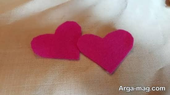 آموزش ساخت قلب نمدی با الگو