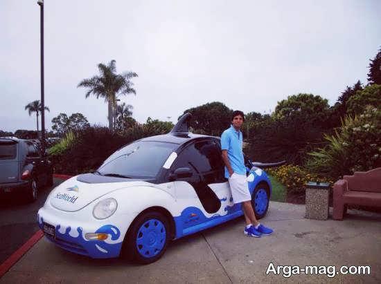 ژست عکس با ماشین جذاب و زیبا برای آقایان