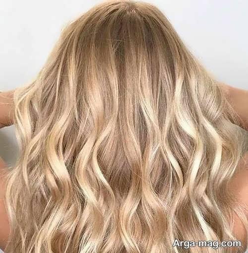 رنگ مو عسلی شامپاینی