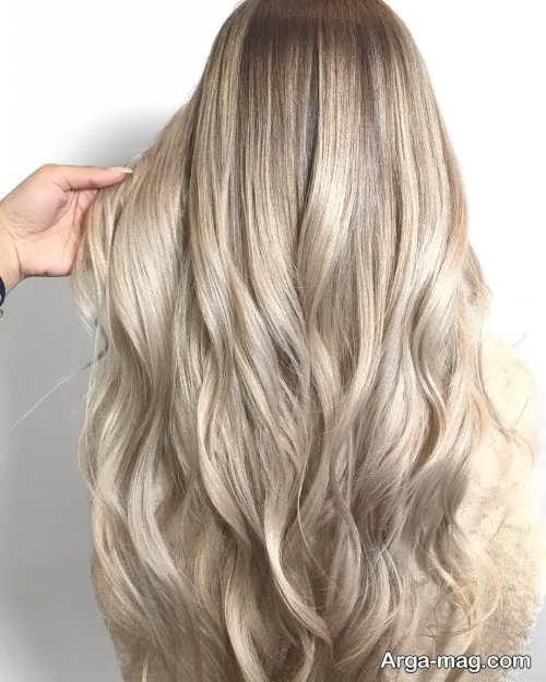 رنگ مو روشن شامپاینی