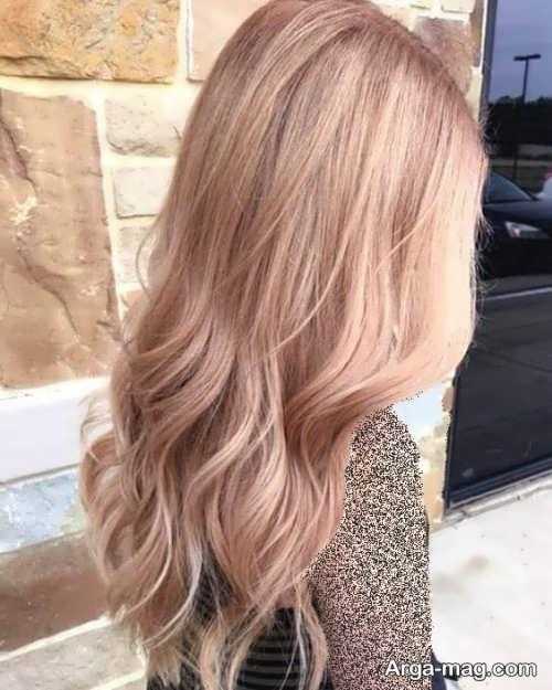 رنگ مو شیک شامپاینی