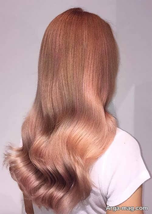 رنگ مو زیبا و جذاب