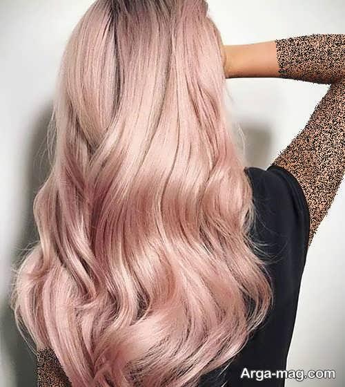 رنگ مو شامپاینی یاسی