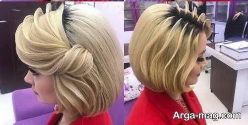 شینیون حرارتی برای موی کوتاه